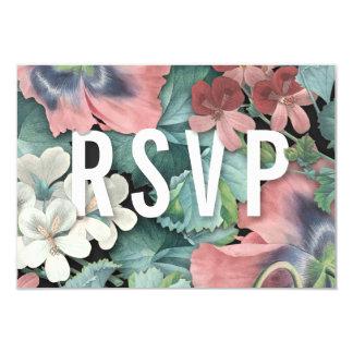 Étreinte botanique épousant des cartes de RSVP