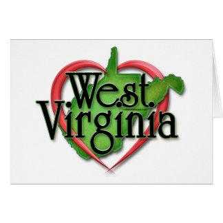Étreinte d'amour de la Virginie Occidentale Carte De Vœux
