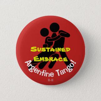 Étreinte soutenue ! Tango argentin Badge