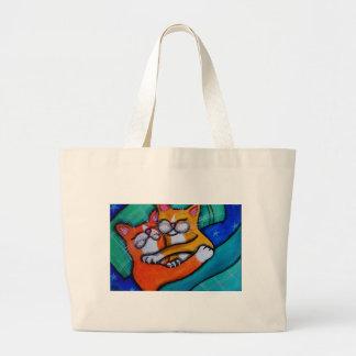 Étreintes de chat grand sac