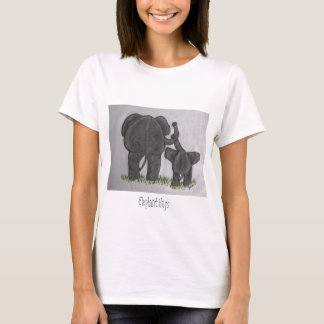 Étreintes d'éléphant t-shirt