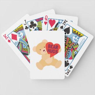Étreintes d'ours cartes bicycle poker