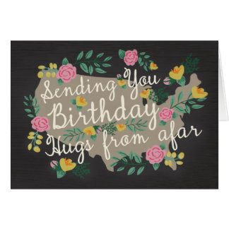 Étreintes loin de carte d'anniversaire