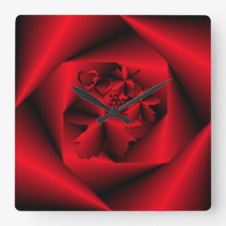 Étude dans l'horloge décorative de ~ rouge