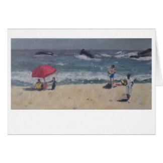 """""""Étude de plage de Cape Town"""" par la bouffe de Carte De Vœux"""