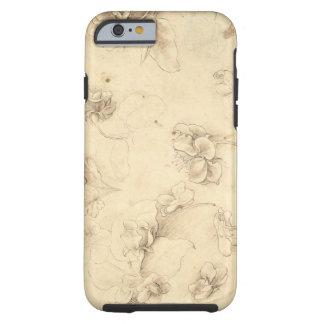 Étude des fleurs de Herbe-comme des plantes (Briza Coque Tough iPhone 6
