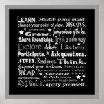 étude du collage de mots dans le noir affiche