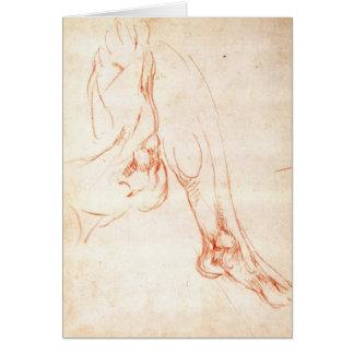 Étude d'une jambe et d'un pied inférieurs carte de vœux