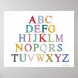 étude, lettres, alphabet posters