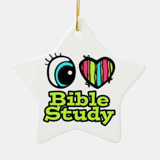 Étude lumineuse de bible d'amour du coeur I d'oeil Ornement Étoile En Céramique