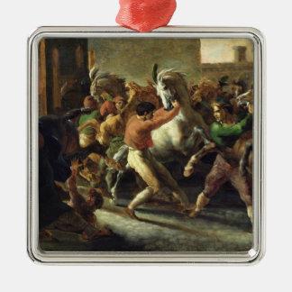 Étude pour la course des chevaux barbares, 1817 ornement carré argenté