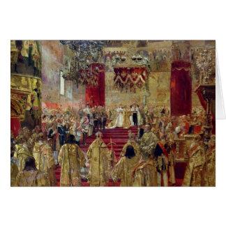 Étude pour le couronnement du tsar Nicholas II Carte De Vœux