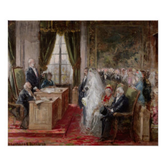 Étude pour le mariage civil posters