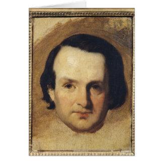 Étude pour un portrait de Victor Hugo c.1836 Carte De Vœux