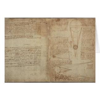 Études de l'illumination de la lune carte de vœux