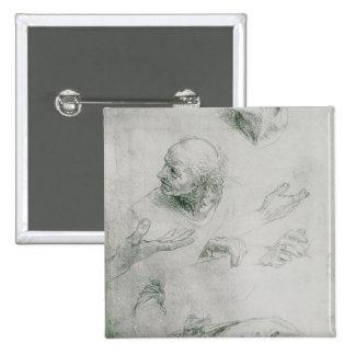 Études pour la figure de Bramante Pin's Avec Agrafe