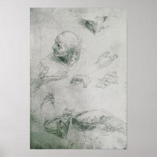 Études pour la figure de Bramante Posters