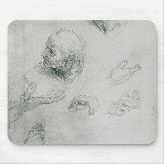 Études pour la figure de Bramante Tapis De Souris