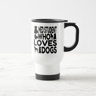 Étudiant de Med qui aime des chiens Mug De Voyage