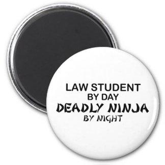 Étudiant en droit Ninja mortel Magnet Rond 8 Cm