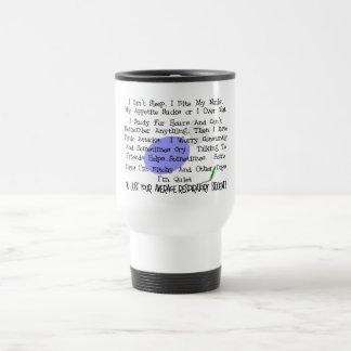 Étudiant respiratoire moyen tasse à café