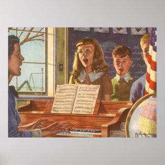 Étudiants de enseignement vintages de professeur posters