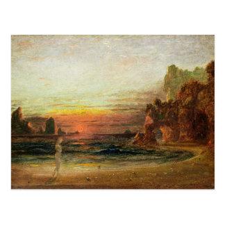 """Étudiez pour la """"grotte de la calypso"""", c.1843 carte postale"""