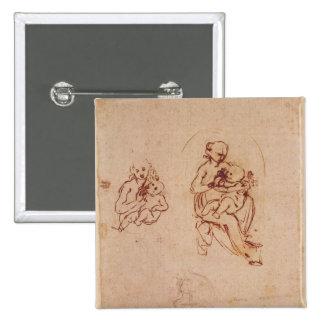 Étudiez pour la Vierge et l'enfant, c.1478-1480 Pin's Avec Agrafe