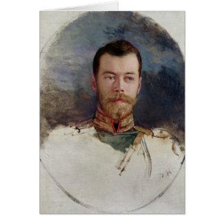 Étudiez pour un portrait de tsar Nicholas II 1898 Carte De Vœux