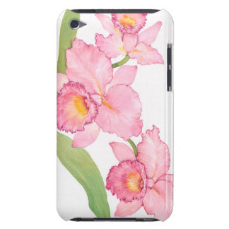 Étui Barely There iPod Fleurs exotiques roses d'aquarelle