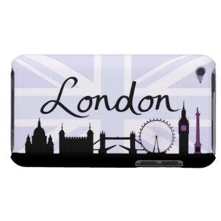 Étui Barely There iPod Manuscrit de Londres sur le ciel d'Union Jack et