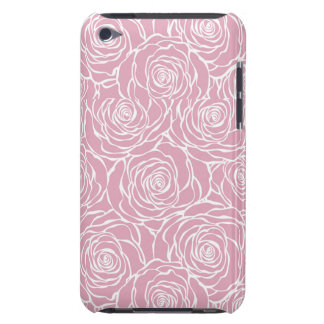 Étui Barely There iPod Pivoines, floral, blanches, rose, motif, girly,