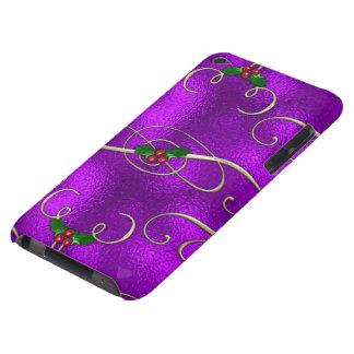 Étui Barely There iPod Remous lilas romantiques de Noël