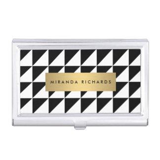 Étui de cartes audacieux chic et moderne de motif porte-cartes de visite