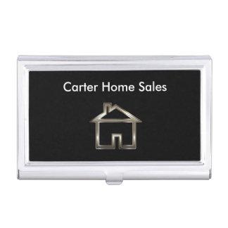 Étui de cartes chic d'entreprise immobilière boîtier pour cartes de visite