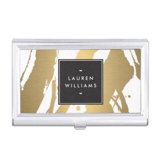 Étui de cartes élégant et abstrait de traçages boîtiers pour cartes de visite