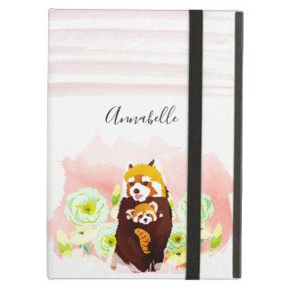 Étui iPad Air Caisse florale rose personnalisée d'air d'iPad de