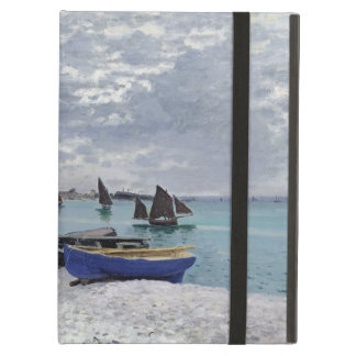Étui iPad Air Claude Monet | la plage chez Sainte-Adresse