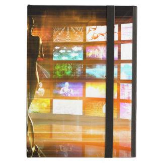 Étui iPad Air Concept de technologies de médias comme mur visuel