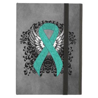 Étui iPad Air Conscience turquoise de soutien de ruban