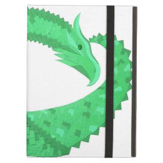 Étui iPad Air Dragon vert de coeur sur le blanc