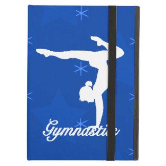 Étui iPad Air Étoiles bleues de fille de gymnastique