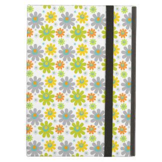 Étui iPad Air Fleurs, pétales, fleurs - jaune vert-bleu rouge