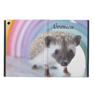 Étui iPad Air Hérisson coloré minuscule personnalisé
