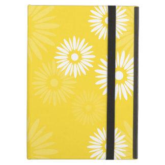 Étui iPad Air iCase jaune de Powis de fleurs d'été