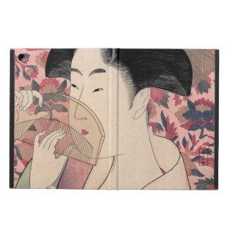 Étui iPad Air La beauté orientale, Kushi par Kitagawa Utamaro