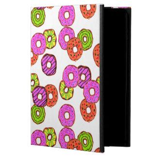 Étui iPad Air le beignet givré coloré de butées toriques avec