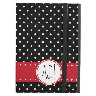 Étui iPad Air Monogramme - pois, motif pointillé - noir