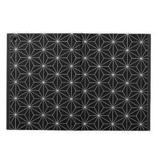 Étui iPad Air Motif géométrique élégant - argent et Noir