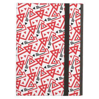 Étui iPad Air Motif géométrique rouge d'avant-garde et noir